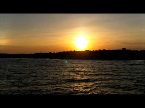 Puesta de Sol ( Sunset )  Folly Beach, SC  Carolina del Sur. 08-07-2013  HD Samsung W300