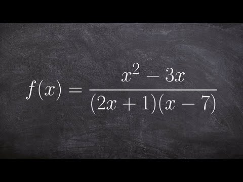 Learn how to determine the domain of a rational equation