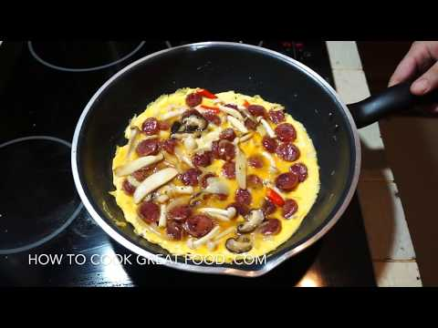Egg Foo Young - Chinese Sausage & Mushroom - 芙蓉蛋