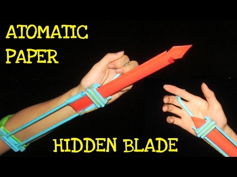 How to make an Automatic Hidden Blade from Paper l Assassins Creed