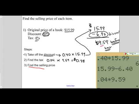 lesson sales tax and discounts
