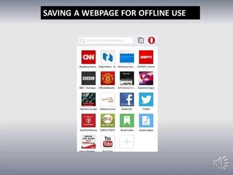 HOW TO SAVE A WEBSITE- OPERA MINI