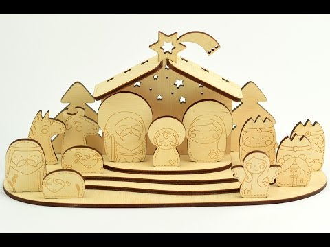 Wooden Christmas Nativity Scene - Do It Yourself