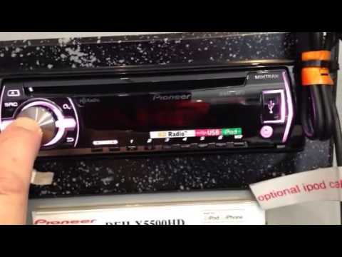 How to set clock on 2014 Pioneer cd player