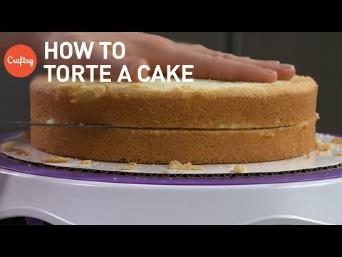 How to Torte a Cake into 2 Layers for Filling & Stacking | Pastry Tutorial with James Rosselle