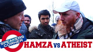 Hamza Debates Atheist & Christian On Evolution & Nature Of God | Speakers Corner