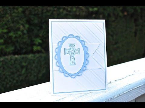 Make a handmade Christening Baptism Card