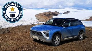 Highest altitude in an electric car - Guinness World Records