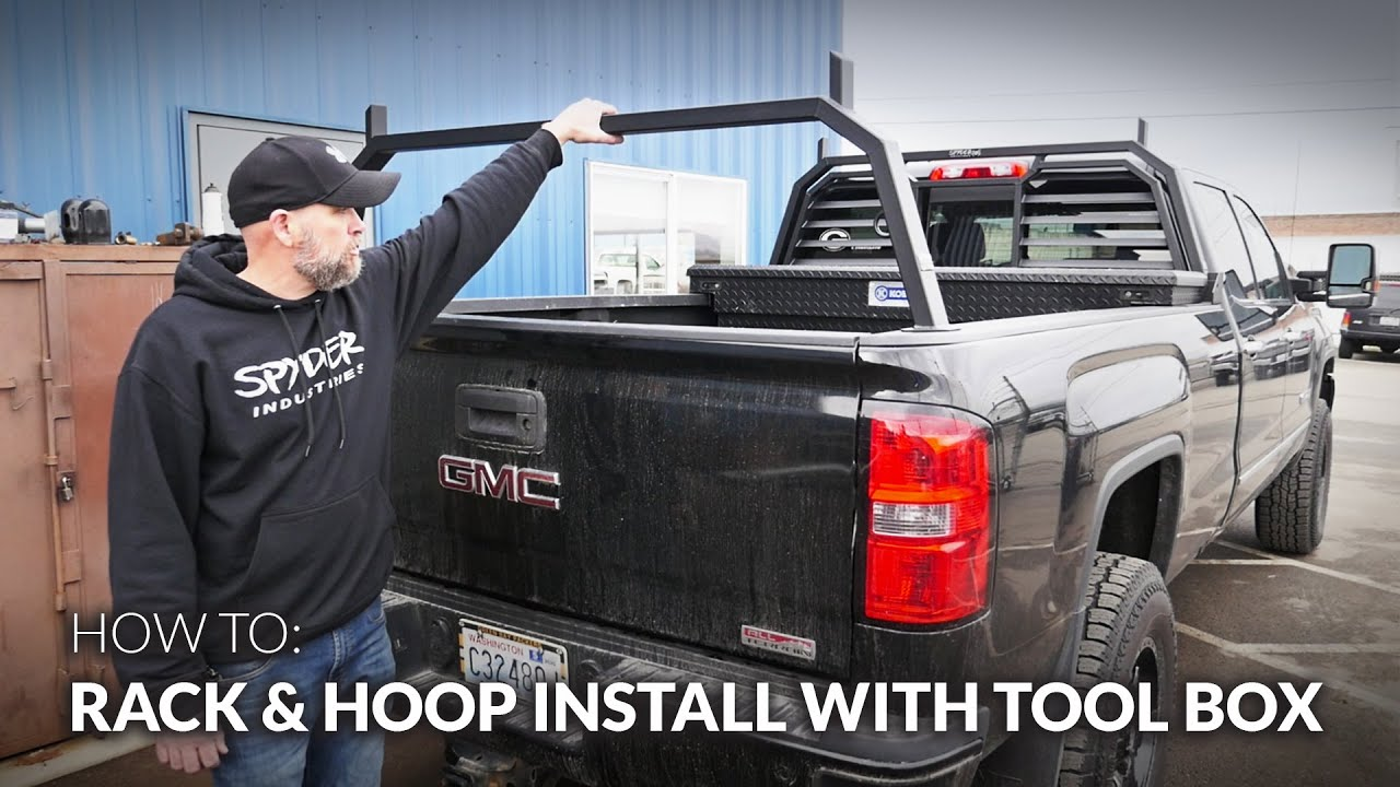How to Install a Spyder Industries Headache Rack and Rear Hoop Rack with a Tool Box on GMC Trucks