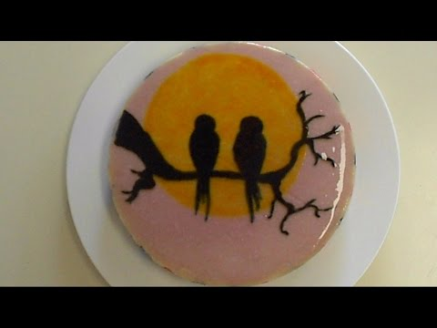 How to make and paint on gelatin cake glaze