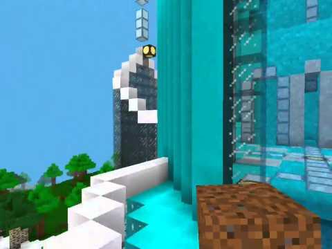 [Kidblock] Minecraft Elsa's ice Castle. :)