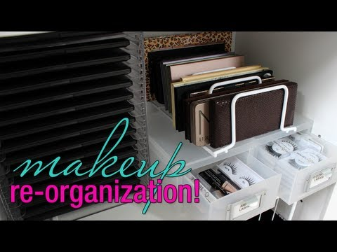 Makeup Re-Organization! + Storage Solutions for your Collection
