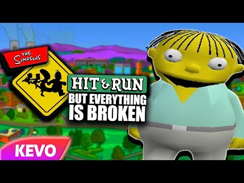Simpsons Hit And Run but everything is broken