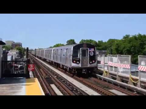 Nostalgia! (F) train action at Avenue U (IND Culver Line)!