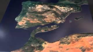 Plate Tectonics CGI of Mediterranean under a minute