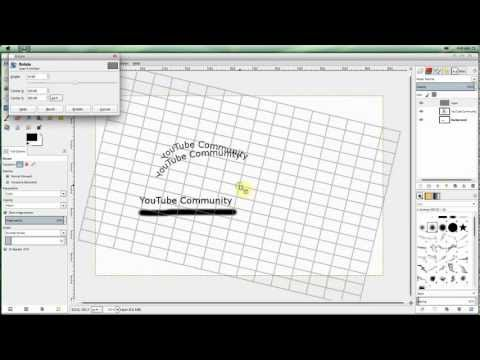 How To: Make Curved/Arched Text On Gimp