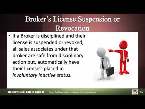 Broker's Suspension or Revocation