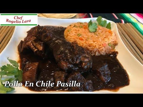 POLLO EN CHILE PASILLA ,RECETA DELICIOSA!