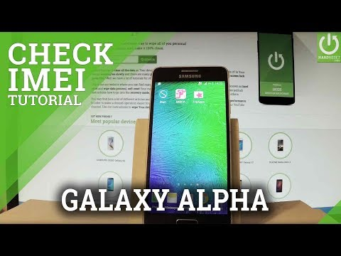 How to Check IMEI in SAMSUNG Galaxy Alpha - IMEI Information