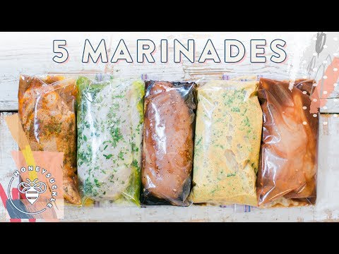 5 EASY DIY Chicken Marinades + 3 Meal Ideas!!!