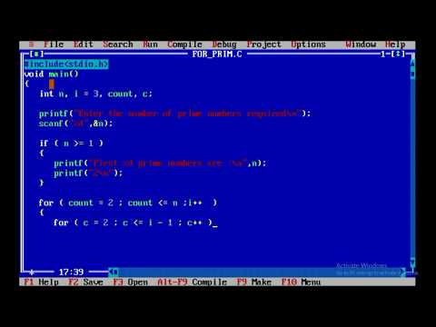 A c program to print n prime numbers using nested for loop