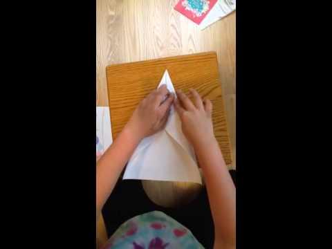 Lion paper air plane
