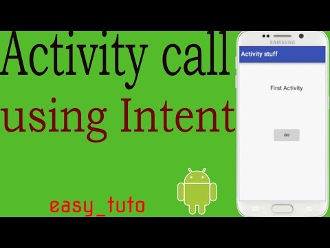Call Activity from another | Intent | Android Studio Tutorial (Beginners) HD | All About Android