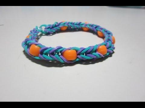 Rainbow Loom Tutorial: Beaded Fishtail Bracelet