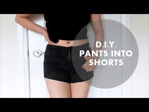 DIY Pants into Shorts | NANCY MAC