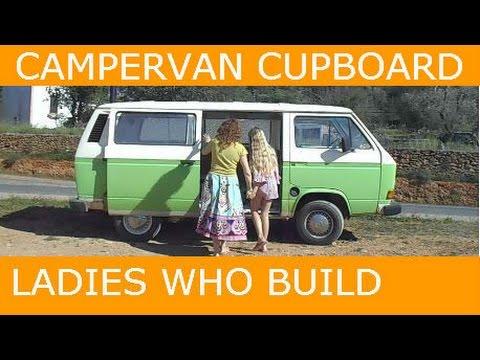 Woman & Daughter Build Campervan Cupboard