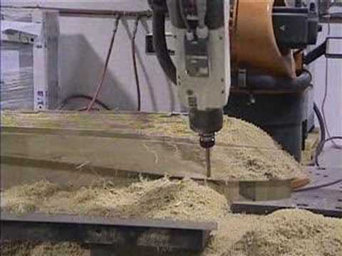 Milling scale boat hull model
