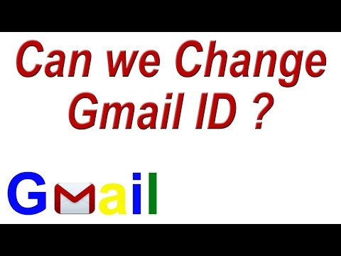 Can we Change Gmail ID ? Change Gmail Email Account Name