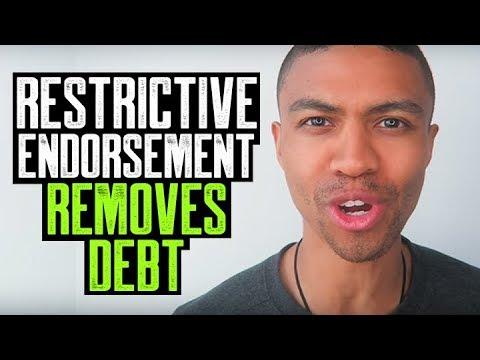 RESTRICTIVE ENDORSEMENT REMOVES DEBT || PAY FOR DELETE || EVICTION REMOVALS