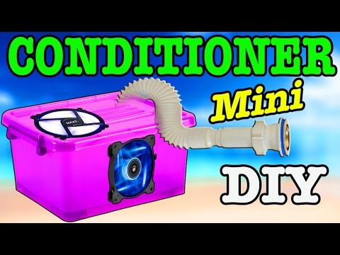 How to make a mini air conditioner / HACK PC FAN