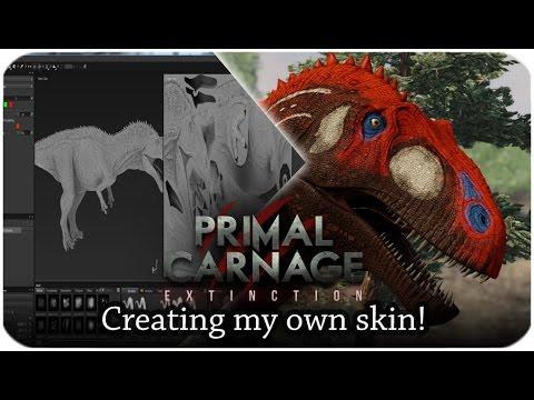 Primal Carnage: Extinction | Creating my own skin! |