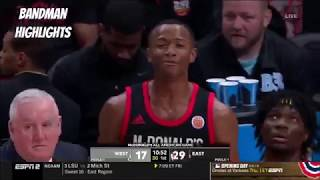 63f55492bb2c 2019 McDonald s All-American Game- Full Game Highlights