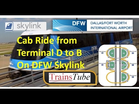 DFW Skylink - Dallas/Fort Worth Airport TERMINAL Train Cab Ride - World's Largest