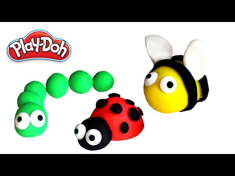 Play Doh - How to make funny insects with modeling clay | Creative for Kids