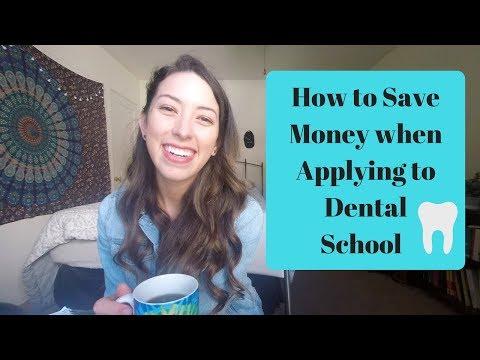Saving Money when Applying to Dental School