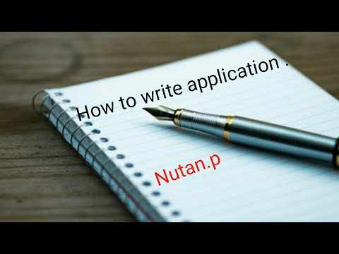 How to write teacher job application/ teacher job application / writing job format / job letter