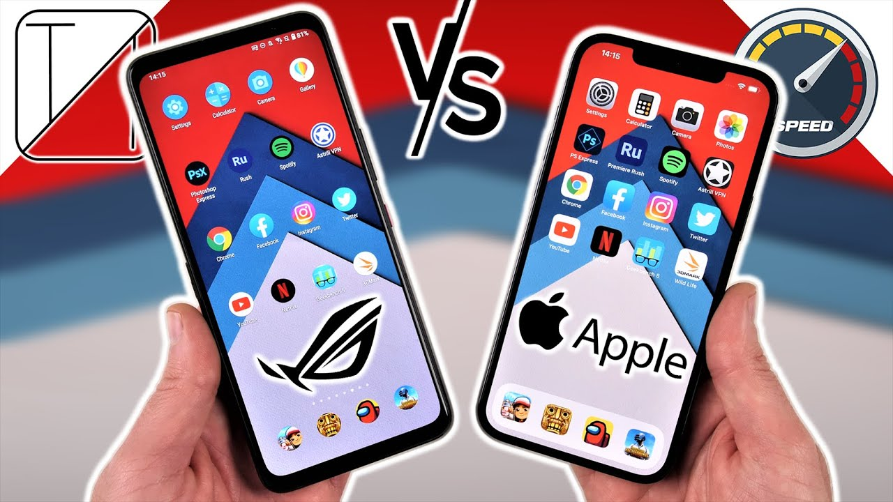 Asus ROG Phone 5 vs iPhone 12 Pro Max Speed Test