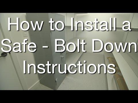 3 Ways to Install a Safe - Concrete Epoxy Method