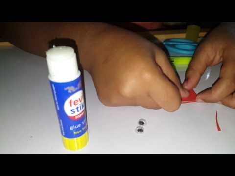 How to make puppet with icecream stick