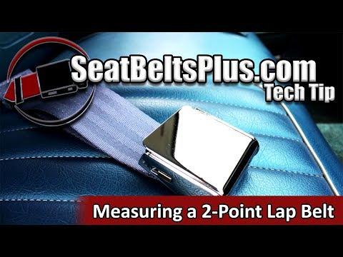 SeatBeltsPlus.Com - Measuring a 2 Point Lap Belt
