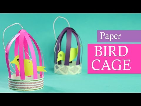 Paper Crafts for Kids: Paper Bird with Cage for Balcony (DIY Home Decor)