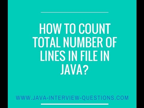 How to count total number of lines in a file using java?