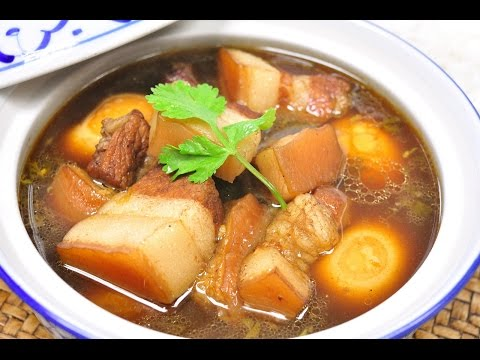 Stewed Pork and Egg with Five Spices - Moo Palo หมูพะโล้