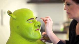 Backstage at Shrek The Musical  Dean Chisnall becomes Shrek!