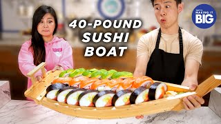 I Made A Giant 40-Pound Sushi Boat For A Mukbang Artist • Tasty