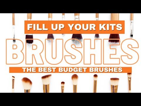 PROFESSIONAL MAKEUP  BRUSHES ON A BUDGET for your kit--NEWBIE EDITION  *SALE ALERT*